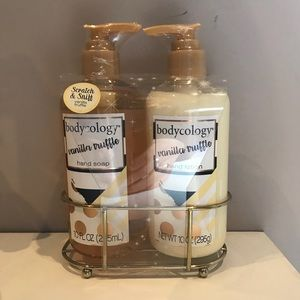 Bodycology Lotion and Soap Set with Metal Tray